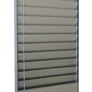 Document Storage Panel, 1 x 10 A4 Landscape, Silver