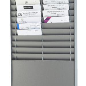 Document Storage Panel, 2 x 10 A4, Silver