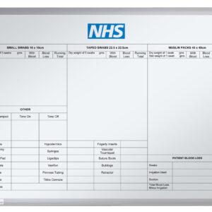 Printed Whiteboard NHS Print